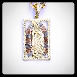 Other - Virgen de Guadalupe Pendant with Chain